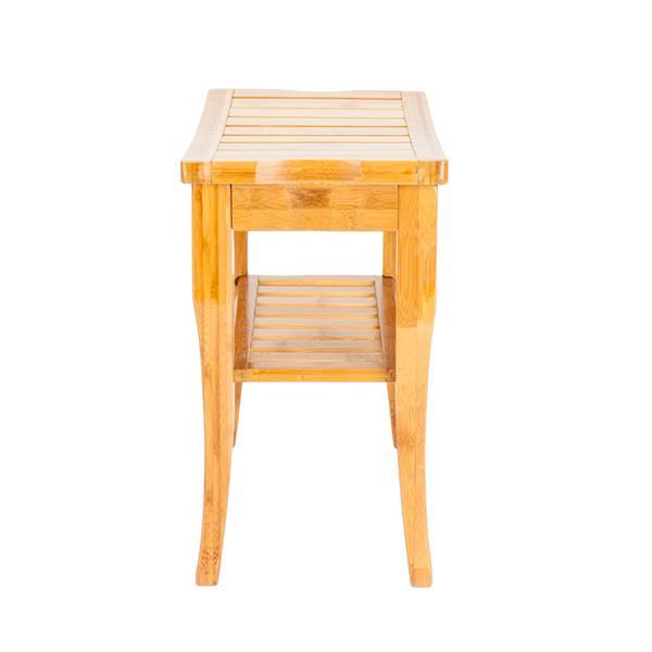 47.5x26x44.5cm Bamboo Bath Stool Sandal Wood Color