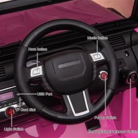 12V Kids Ride On Car SUV MP3 2.4GHZ Remote Control LED Lights Pink