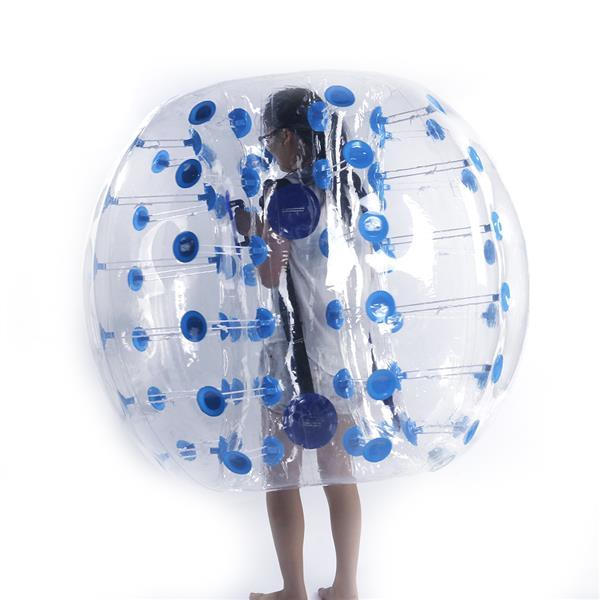 1.5M PVC Inflatable Bumper Bubble Ball Blue Dot