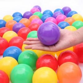 100pcs 8cm Colorful Fun Soft Plastic Ocean Ball Swim Pit Toy Baby Kids Toy Mix Color