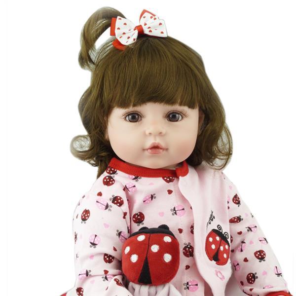 "24"" Beautiful Simulation Baby Girl Reborn Baby Doll in Beetle Dress"