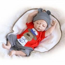 "23"" Cute Full Simulation Silicone Baby Body Reborn Baby Doll"